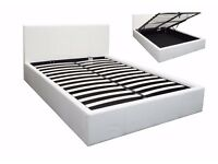 **AMAZING OFFER ** OTTOMAN LEATHER STORAGE DOUBLE BED AVAILABLE IN BLACK BROWN SINGLE OR DOUBLE