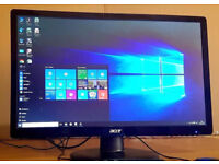 """22"""" Acer LED Monitor, Full HD 1920*1080, comes with HDMI cable, Excellent Condition looks like new"""