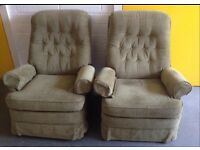 2 PARKER KNOLL RECLINER ARMCHAIRS ROCKER CHAIRS