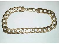 Solid 9ct gold gents bracelet