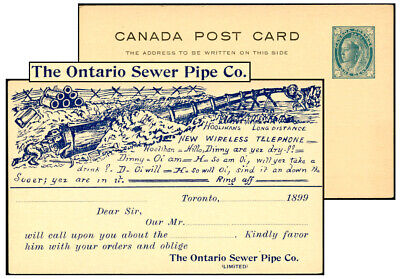 CANADA 1¢ PSC ONTARIO SEWER PIPE 1899 Webb P17