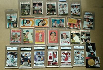 100 Baseball Card Fire  Break  Ex  Mantle  Mays  Judge  Stanton  Koufax  Autos