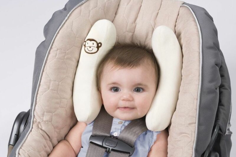Summer Baby Cradler Infant/Toddler Car Seat Head & Neck Support-Ivory Pillow