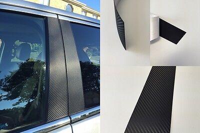 Fits Cadillac ATS 2013-2018 Vinyl Black Carbon Fiber Pillar Posts Trim