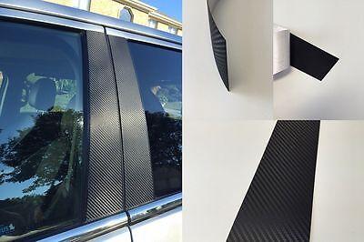 Fits Nissan Altima 2016-2018 Vinyl Black Carbon Fiber Pillar Posts Trim