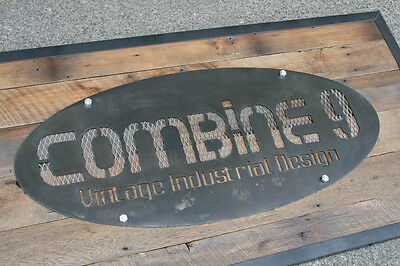 Custom Signs. Modernvintage Industrialurban. Signage Steelreclaimed Wood.