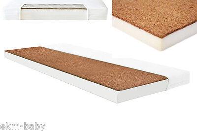 Kinderbettmatratze Kokos-Schaum 60x120 & 70x140 cm Kinder Baby Matratze ekmBABY 60 X 120