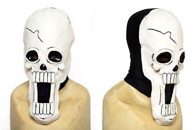 Brook Cosplay Kostüm (Skeleton Skull One Piece Cosplay Latex Brook Mask w/ black spandex hood)