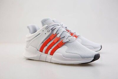 110 Adidas Men Eqt Support Adv Gray Clear Bold Orange Footwear White By9581