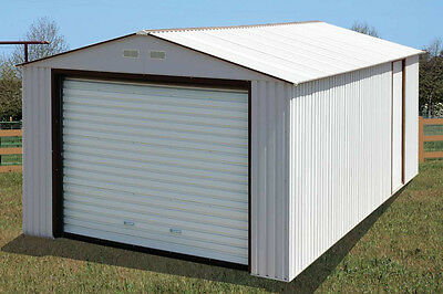 Duramax 12x26 Metal Garage With Roll Up Door Off White 55131