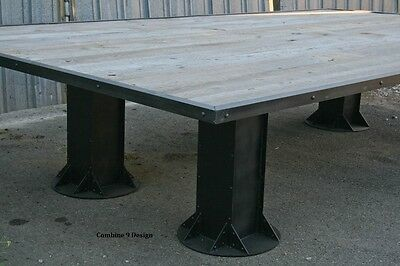 Industrial Conference Table. Reclaimed Wood. Urban Decor Board Room Dining