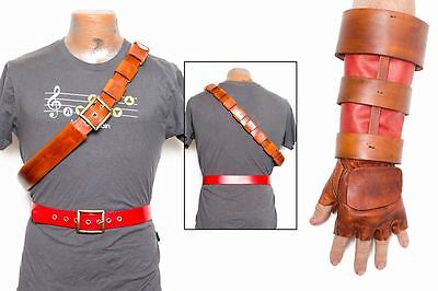 Legend of Zelda Ocarina of Time Leather Belts, Gloves and - Ocarina Of Time Kostüm