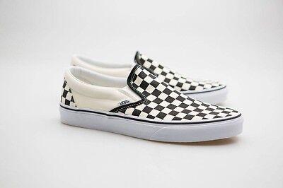 Vans Men Classic Slip-On black white checker white - Checker Slip
