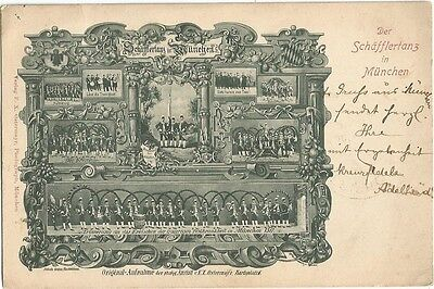 Munich, Germany Munchen 1900  Postcard, Der Schafflertanz