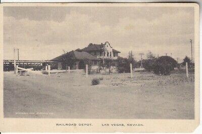 Las Vegas Nevada NV Train SLR Railroad Depot 1910 Albertype Postcard Vintage