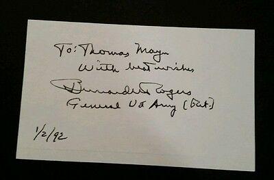 Bernd W. Rogers,  US-GENERAL, Nato, Original-Autogram, Original autograph