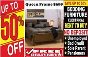 NZ PINE Queen Bed Frame Stylish- Bedroom Suite Avail- RENT OR BUY Toowoomba Toowoomba City Preview