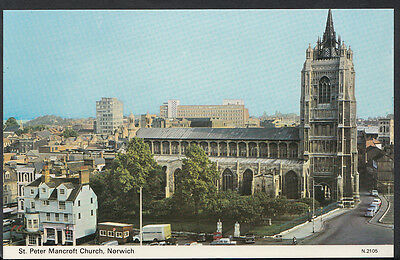 Norfolk Postcard - St Peter Mancroft Church, Norwich     DR269