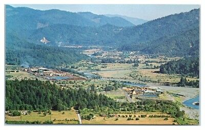 1950s/60s Hoopa Valley along the Trinity River, CA Postcard