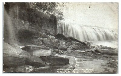 1907 Crooked Falls, Missouri River near Great Falls, MT Postcard