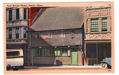 À vendre Undated Unused Postcard Paul Revere House Boston Massachusetts MA