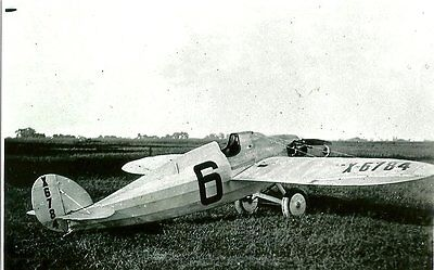 "HEATH'S BABY BULLET (#6) X6784 RACER AIRPLANE B&W 5"" X 7"" PHOTOGRAPH"