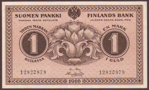 FINLAND  1 Markka  1916    UNC