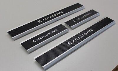 EXCLUSIVE Chrom Einstiegsleisten mit Abkantung Edelstahl V2A 4-tlg Vorne/&Hinten