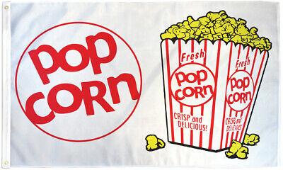 Popcorn Flag 3x5 Pop Corn Banner Sign Bandera Comida Food Concessions Flag