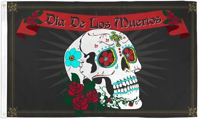 Dia De Los Muertos 3x5' Flag  NEW Day of the Dead Banner Mexico Holiday](Dia De Los Muertos Flags)