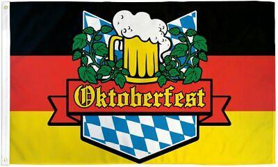 Oktoberfest Flag Happy Oktoberfest Germany Bavaria Beer Fest Bar