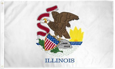 STATE OF ILLINOIS 3X5' FLAG NEW 36X60