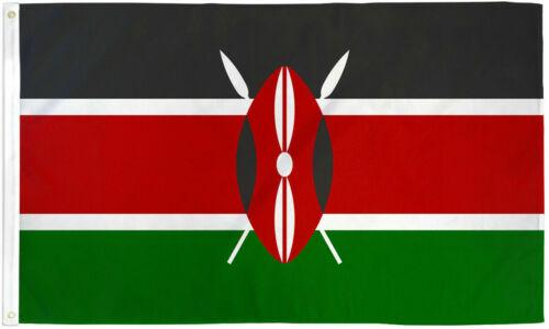 Kenya 3x5ft Flag of Kenya Kenyan Flag 3x5 House Flag 100D FABRIC