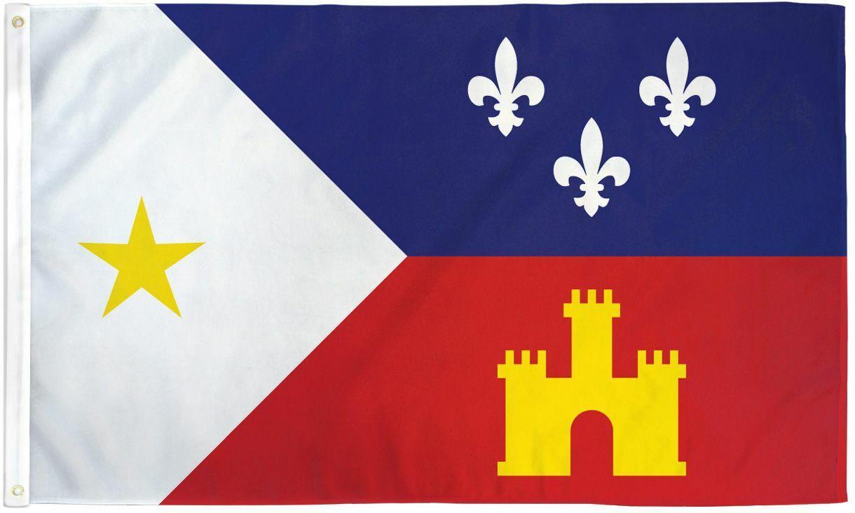 Louisiana Acadiana Flag 3x5ft Polyester - Cajun - Louisiana