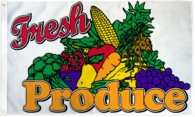 Fresh Produce Flag 3x5 Fresh Produce Banner Sign Farmers Market Here