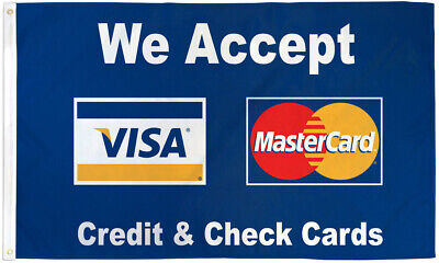We Accept Visa Mastercard Flag 3x5 We Accept Credit Cards Banner Sign Payment