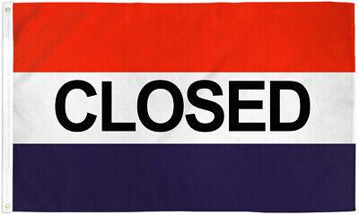 Closed Flag 3x5ft Closed Banner Sign Bandera Cerrado We Are Closed Flag