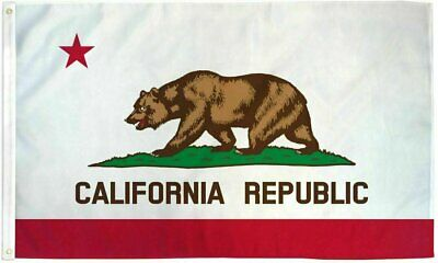 NEW California State Flag 100% All Weather Polyester  with Brass Grommets 3X5 ft Décor