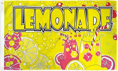 Lemonade Flag 3x5ft Lemonade Banner Sign Concessions Drink Service Flag
