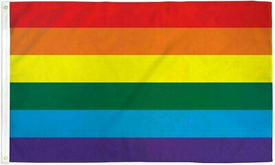 Rainbow Flag Big 3 x 5 FT Gay Pride Lesbian 36″ x 60″ LGBT Bisexual Transgender Collectibles