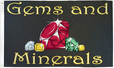 Gems And Minerals Flag 3x5ft Jewelry Store Banner Sign Collectible Shop