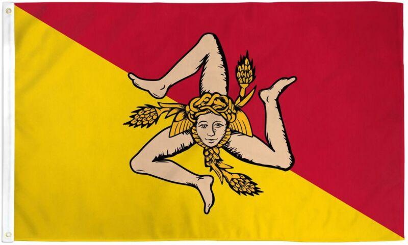 3x5 Sicily Italy Flag Italian Banner Sicilian Island Pennant Indoor Outdoor New