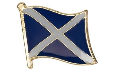 SCOTLAND SCOTTISH SALTIRE FLAG ENAMEL PIN BADGE ST ANDREWS BRAND NEW FREE POST