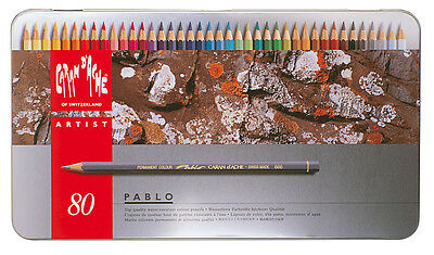 Caran d'Ache PABLO Farbstifte, 80-er Metalletui, 0666.380, SONDERPREIS, NEU&OVP
