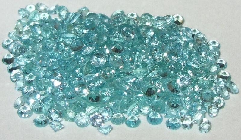 2.5mm Madagascar Blue Apatite Round Cut
