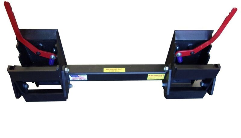 Skid Steer Universal Hitch Adapter w/3 Rollback Settings 8297