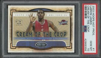 2003 Hoops Hot Prospects Cream of the Crop #1 LeBron James RC Gem Mint PSA 10
