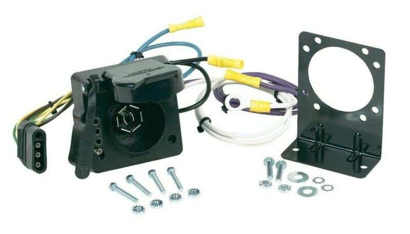 Hopkins 47185 Vehicle Wiring Adapter Kit 7 Blade & 4 Flat Multi-Tow