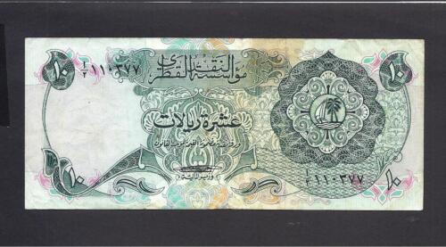 Qatar p-3 , VF, 10 Riyals, 1973 , Monetary Agency