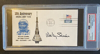Wally Schirra Signed Cover PSA Authenticated Mercury 8 Astronaut NASA